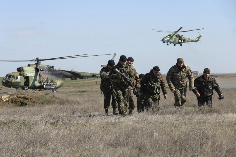 Ukrainian Soldiers near Crimea