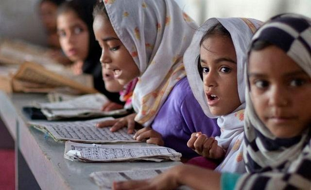 Young female students in Pakistan