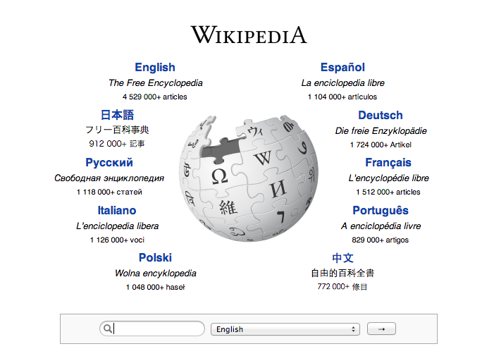 Wikipedia Front Page