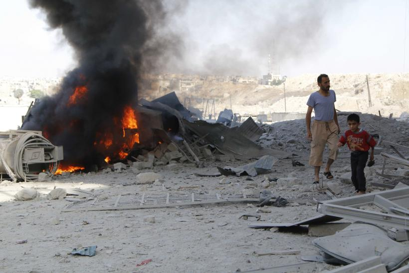 barrel bomb in Syria