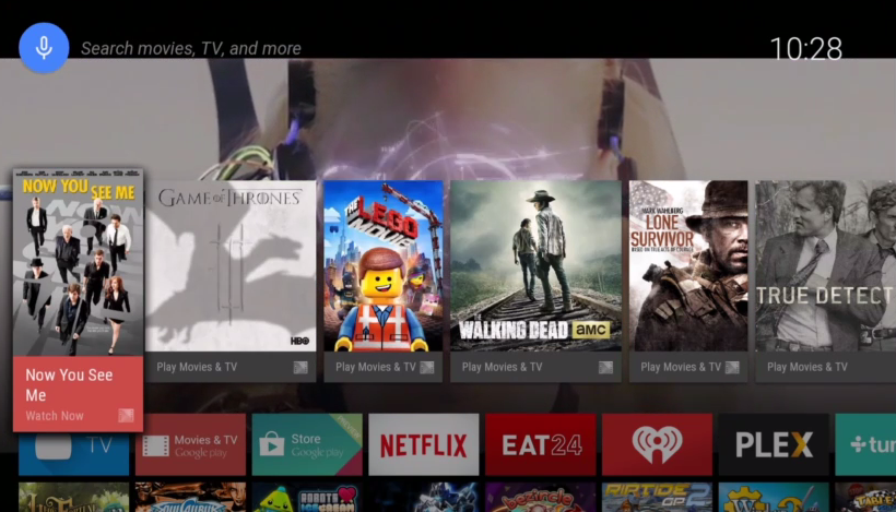 Android TV on screen 2