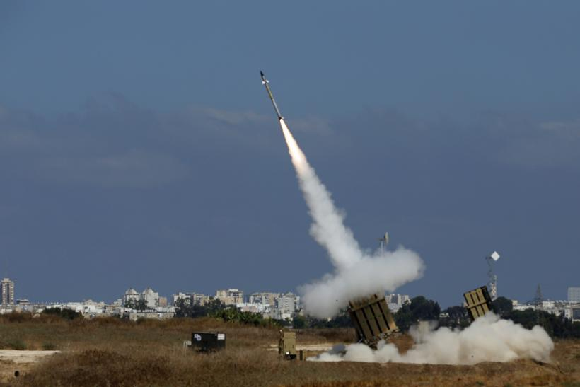 Gaza Hostilities_Iron Dome Launcher Rocket