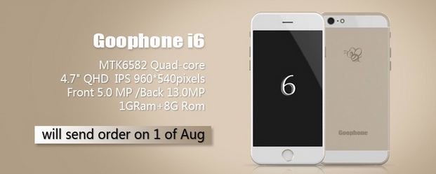 goophone i6 apple iphone 6 clone