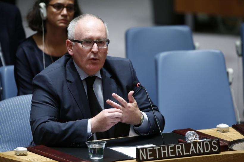 Netherlands Foreign Minister Frans Timmermans
