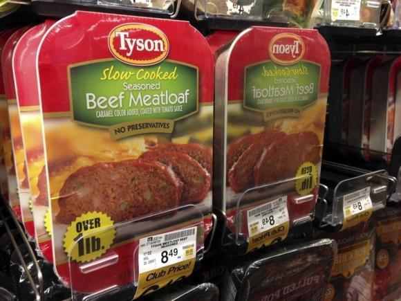 Packages of Tyson Foods products.