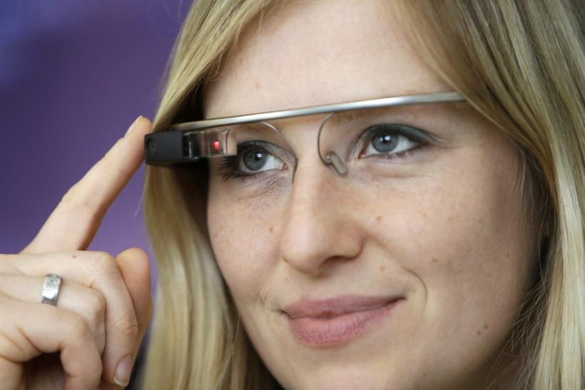 Google glass is worn