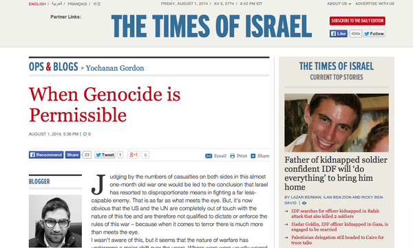 When Genocide Is Permissible