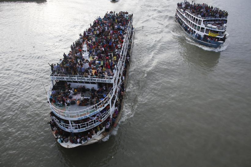 overcrowded ferry