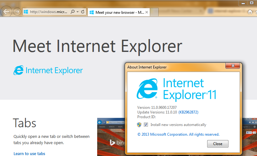 Internet Explorer Versions Phased Out