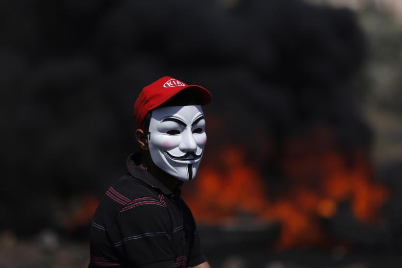 Anonymous protester, Guy Fawkes mask