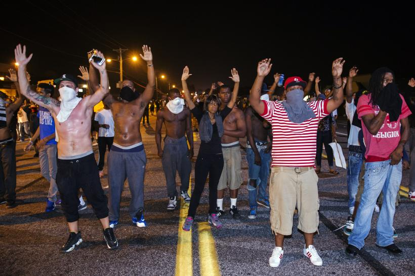 Mike Brown protesters in Ferguson