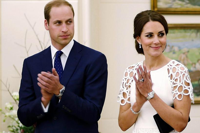 Britain's Prince William and the Duchess of Cambridge, Kate Middleton