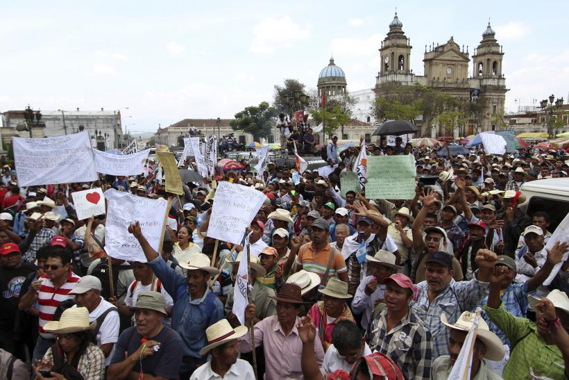 Guatemala President Resignation Scandal Sees Thousands Of Protesters Demonstrate Against Corruption