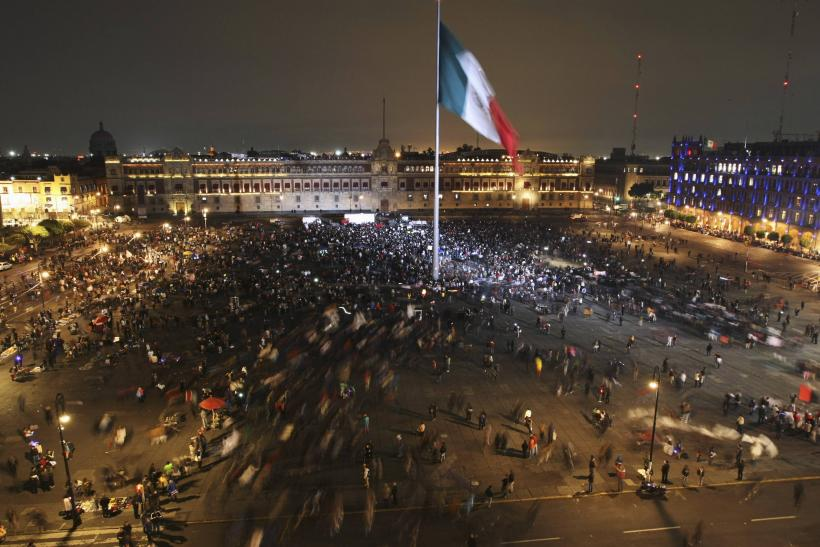 Violent Protests Rage In Mexico City Over Missing Students