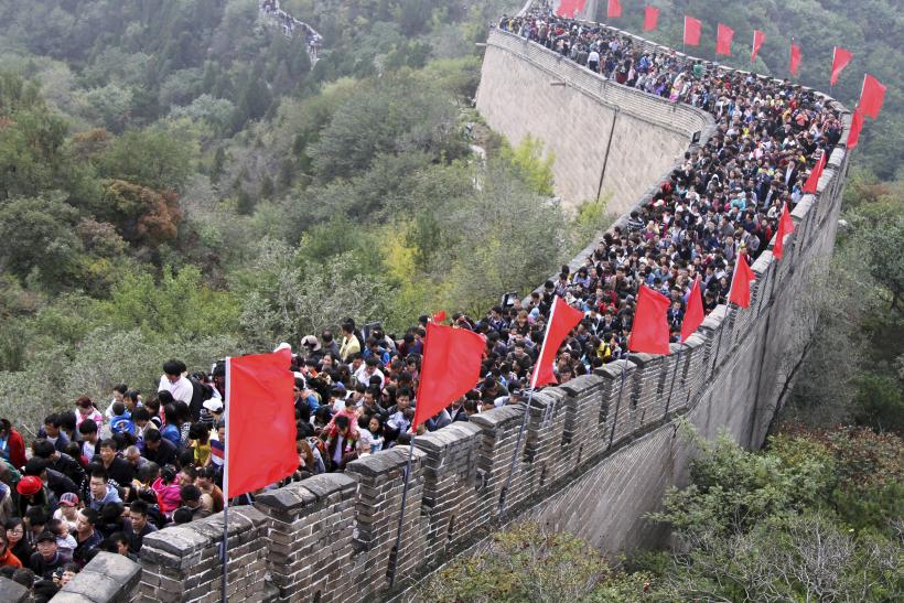 great wall crowd